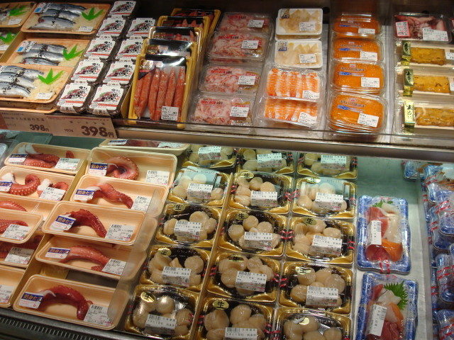 Sushi in Narita Market