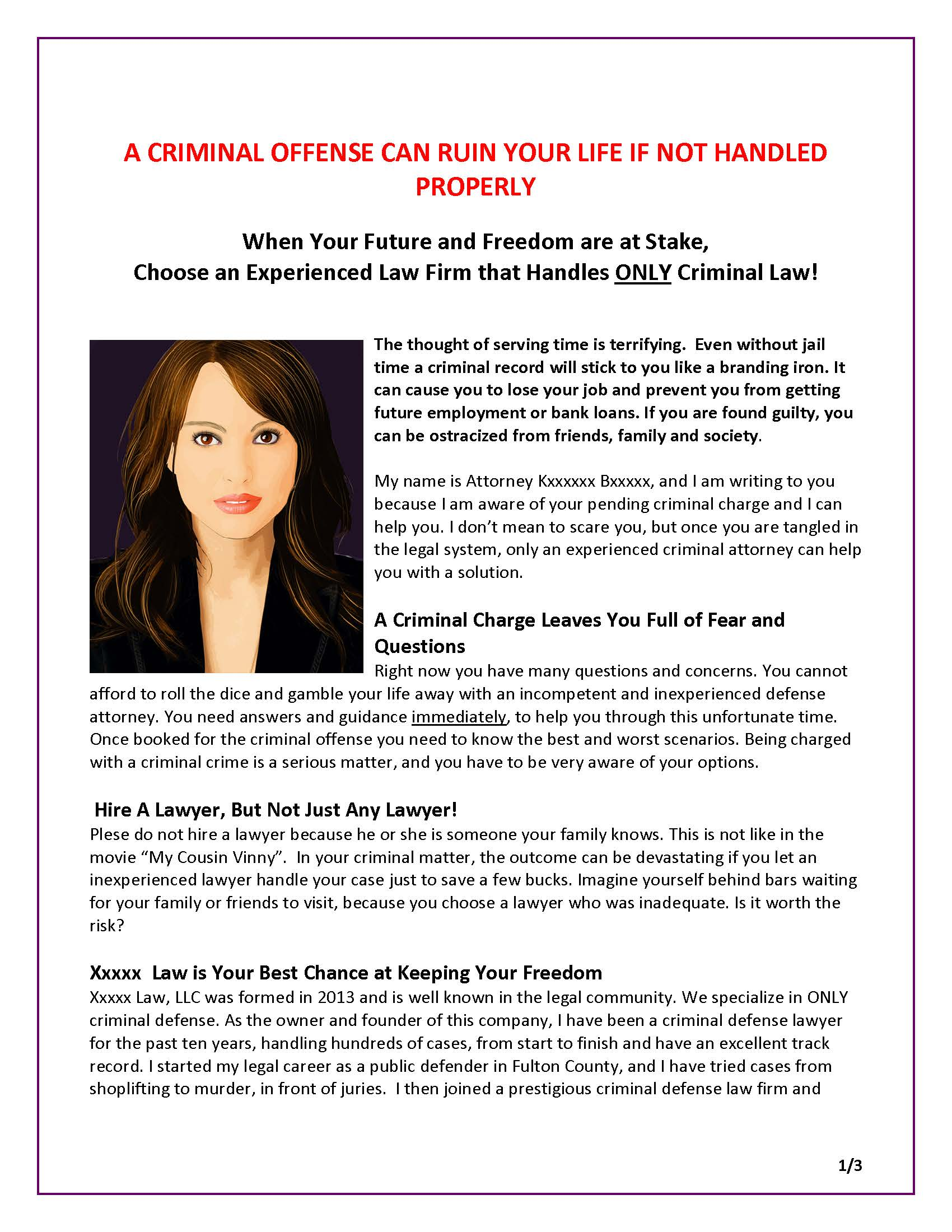 Sales Letter - DM Letter for Criminal Defense Attorney_Page_1