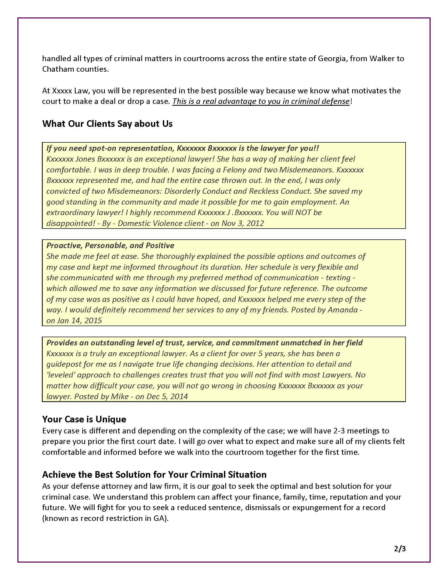 Sales Letter Dm Letter For Criminal Defense Attorney Page 2