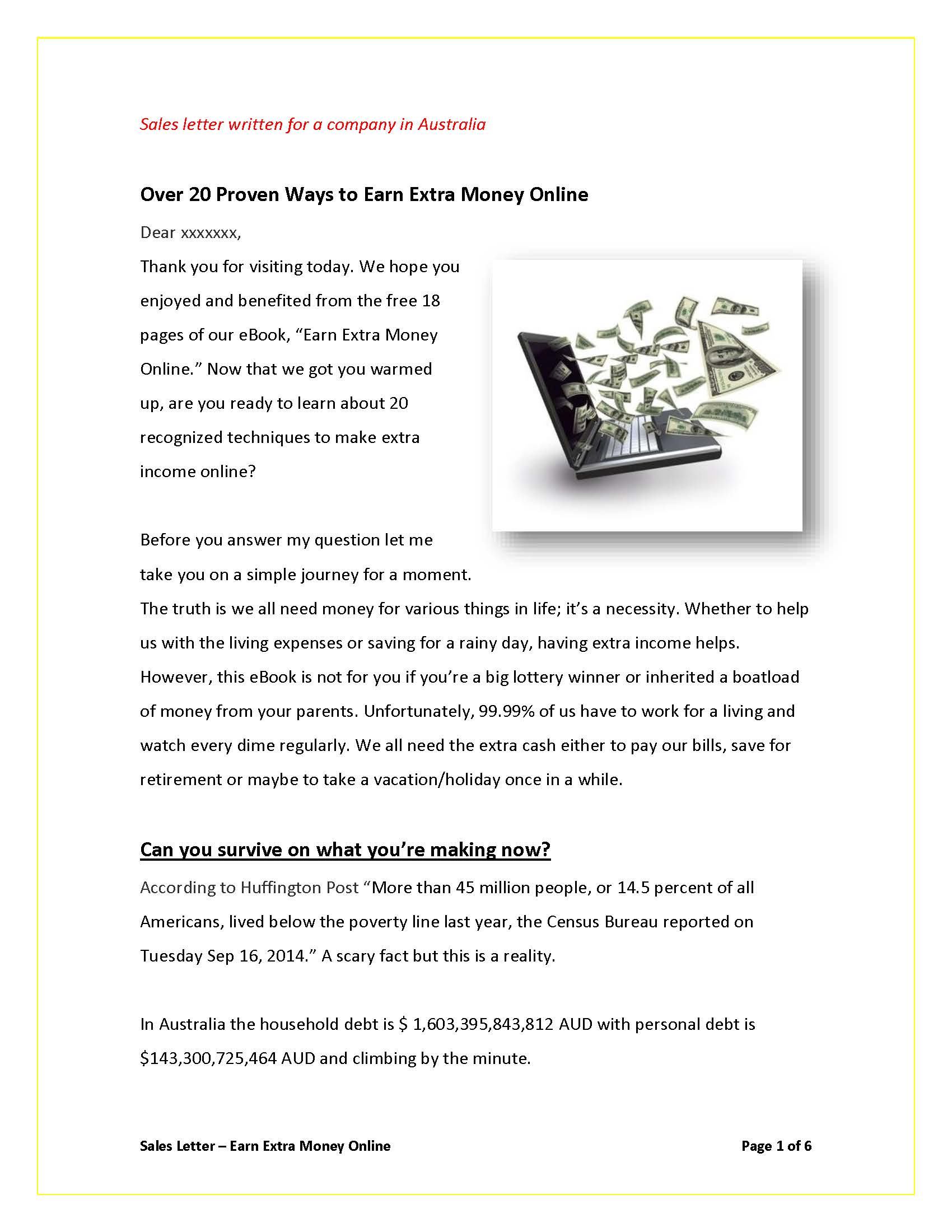 Sales Letter - How To Earn Money Online_Page_1