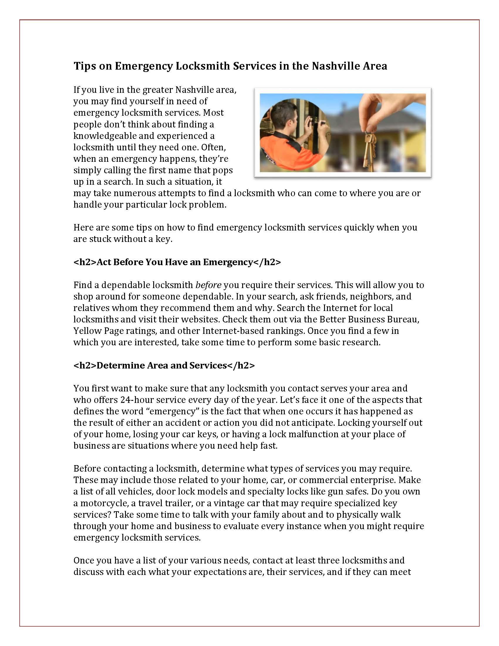 SEO Tips on Emergency Locksmith Services Nashville_Page_1