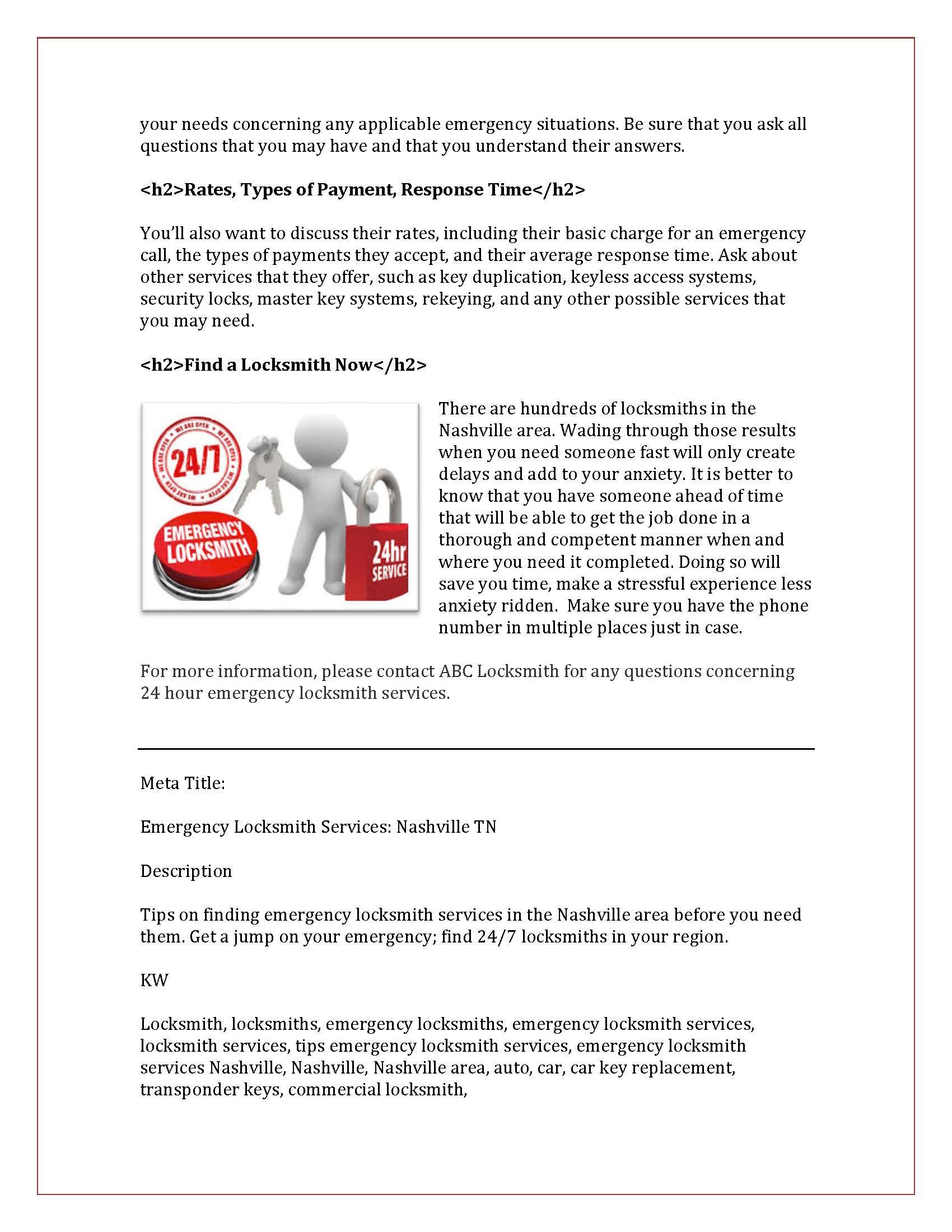 SEO Tips on Emergency Locksmith Services Nashville_Page_2