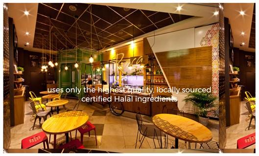Restaurant website content