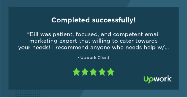 Image of Grovers B2Bfoodwriting client's 5 stars testimonial